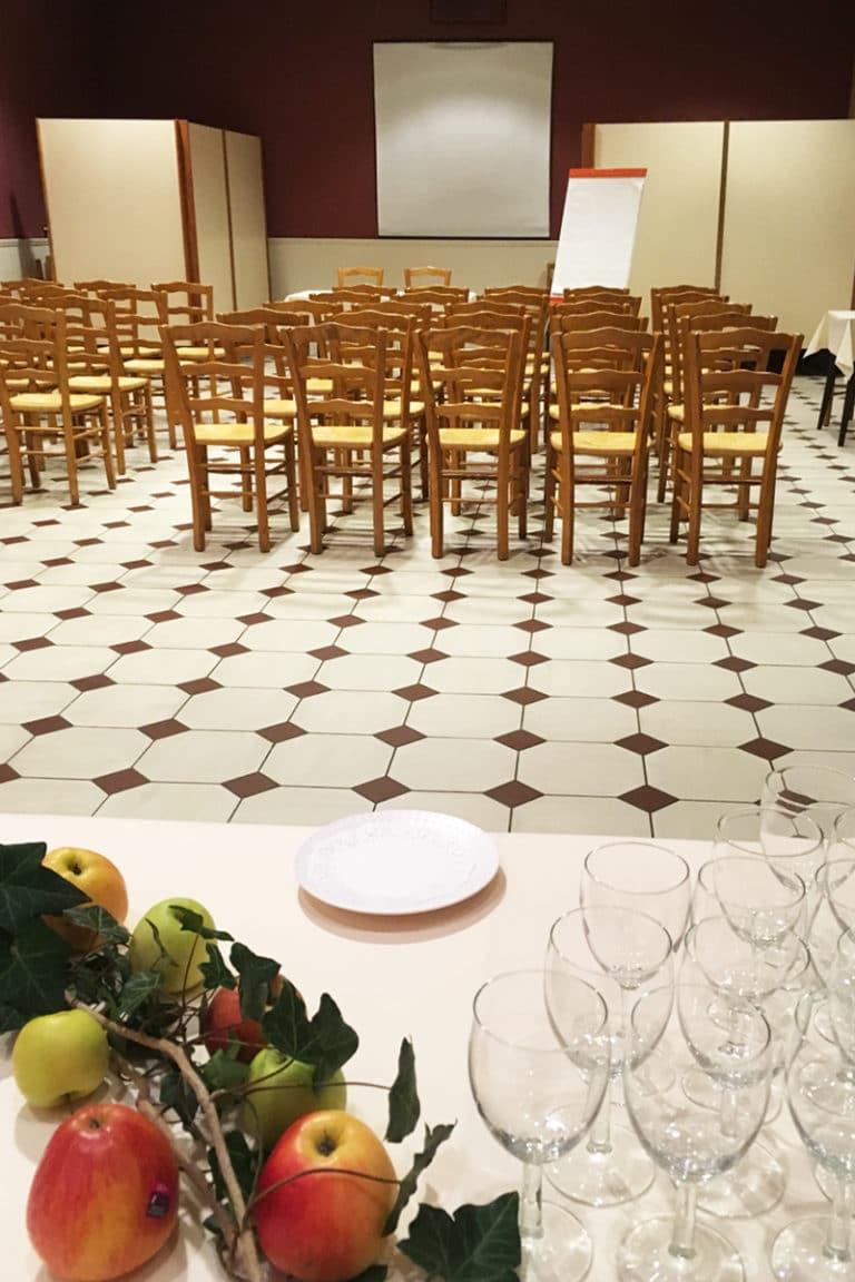 Aux vendanges de Bourgogne hotel restaurant Paray le Monial - salle de récetpion seminaire -3