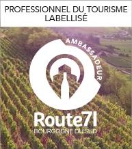 Route 71 ambassadeur Saone et Loire Bourgogne du Sud Tourisme